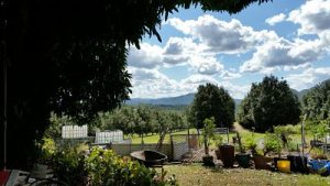 Looking towards Maleny and the Blackall Ranges.