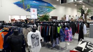 Men's and women's clothing at the Salvation Army Family Store Caloundra West