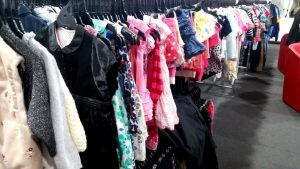 Children's clothes at the Salvation Army Family Store Caloundra West