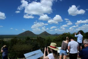 Glass House Mountains lookout is one of the most popular places to capture a photo of the mountains.