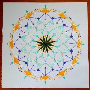 Mandala Meditation art class, Maleny