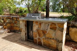Public barbecue at Glass House Mountains lookout