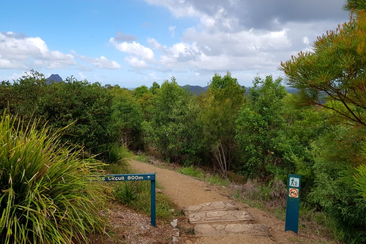 Walking trail at Glass House Mountains lookout