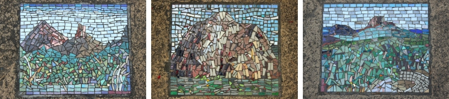 Mosaic tile art at Glass House Mountains lookout