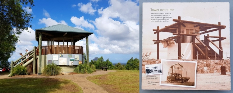 The old fire tower at Glass House Mountains lookout
