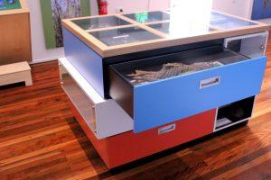 display case at Bilai Environmental Education Centre