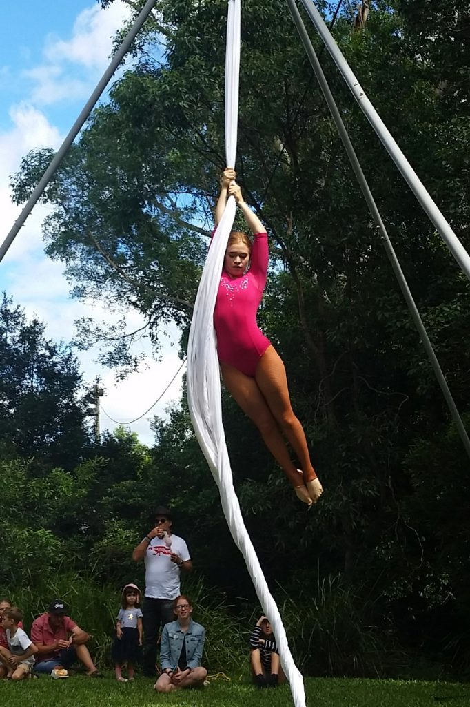 Aerial Dreaming performing at the 2019 Australian Body Art Festival in Cooroy on the Sunshine Coast.